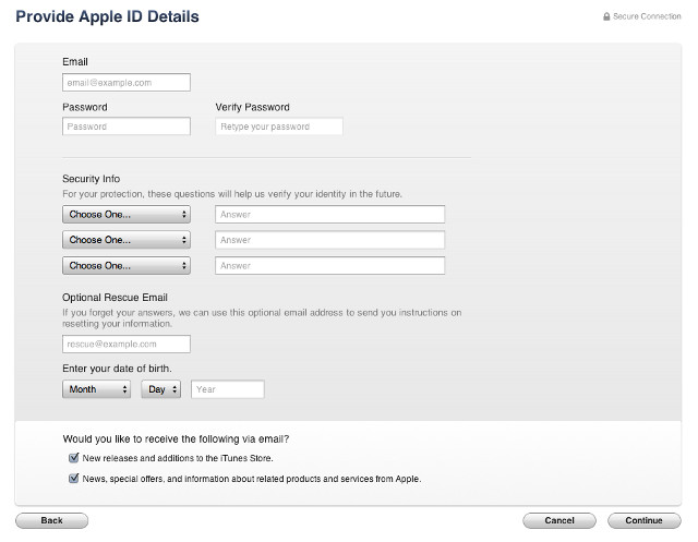 Apple ID USA